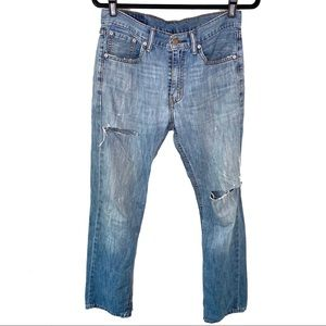 Levi's Men's Distressed Light Wash 505 Pants